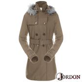 Jordon GORE-TEX 兩件式防風防水保暖長大衣 (內羽絨外套) 女 深卡 J1966