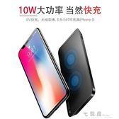 iphonex無線充電器蘋果x三星iphone8手機8plus快充板s8底座QI     檸檬衣舍