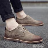 夏季鞋子男透氣休閒鞋韓版板鞋英倫小皮鞋百搭豆豆潮鞋商務布洛克 依凡卡時尚