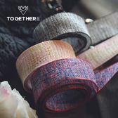 包裝帶 棉麻小香風鮮花花店花束包裝彩帶DIY手工材料 宜室家居
