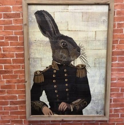 [協貿國際]   動物裝飾畫咖啡廳家居壁飾挂件  (1入)