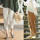 休閒褲-2色寬鬆亞麻小腳九分/設計家 XK378