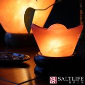 【鹽夢工場】USB系列-玫瑰小元寶鹽燈(特製底)