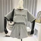 網紅運動服套裝女夏2020新款時尚大碼韓版寬鬆學生短褲休閒兩件套