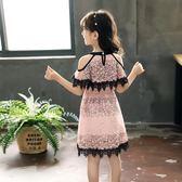 女童連身裙夏裝2018新款女孩洋氣潮衣中大童韓版童裝兒童公主裙子   初見居家
