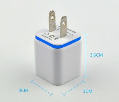 金屬彩邊雙USB孔2A充電插頭 雙USB充電頭 手機通用USB充電器 【Mr.1688先生】
