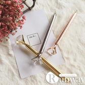 【R】獨家刻字 精緻 金屬質感 耀眼19克拉大鑽石 圓珠筆 文具 婚禮宴 生日 情人節禮物 亮眼小物