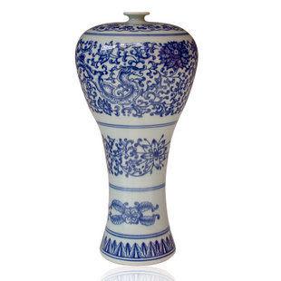 青語 景德鎮陶瓷器 青花美人瓶 宜家家居擺設