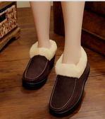 冬老北京布鞋女棉鞋女棉靴雪地靴加絨保暖加厚媽媽鞋短靴子女    原本良品