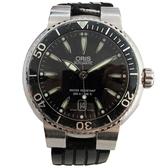 【最終低價】ORIS AQUIS系列黑色面盤男性腕錶 Dives Date 7533【二手名牌 BRAND OFF】
