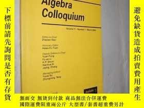 二手書博民逛書店Algebra罕見Colloquium volume 11 nu