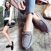 豆豆鞋 豆豆鞋女加絨刷毛刷毛正韓百搭毛毛鞋一腳蹬平跟保暖女棉鞋子 限時8折