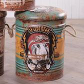 Young 工業風格鐵桶收納椅-愛速度的狗-生活工場