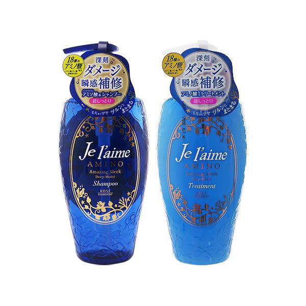 日本 Jelaime爵戀 氨基酸修護洗髮精/護髮乳(深層保濕)500ml 兩款可選【小三美日】