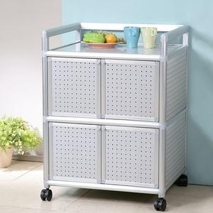 Homelike 鋁合金2尺四門收納櫃