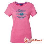 【wildland 荒野】女 雙色印花抗UV排汗上衣『蜜粉紅』0A61683  戶外 登山 抗紫外線 吸濕 排汗 印花