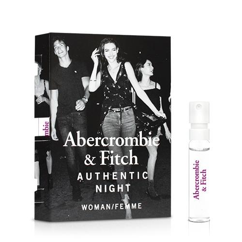 Abercrombie & Fitch 真我夜色女性淡香精針管(2ml)【ZZshopping購物網】