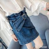 女童裙子2019新款韓版兒童春季百搭休閒牛仔包臀休閒裙子 QW3868『夢幻家居』