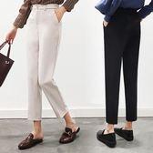 西裝哈倫褲西褲子女九分2018新款學生韓版寬鬆直筒夏薄款煙管蘿卜 檸檬衣捨