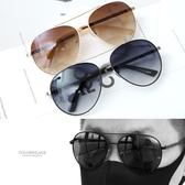 太陽眼鏡 潮流金屬漸層墨鏡【NY417】