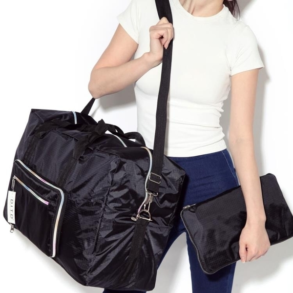 ★可折疊旅行包手提旅行袋女大容量出差短途男登機防水行李袋旅游包