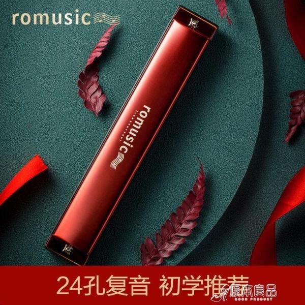 口琴 口琴24孔復音c調高級成人兒童初學者自學專業演奏樂器【快速出貨】