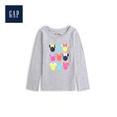 Gap女幼童Disney迪士尼系列圓領長袖套頭T恤米妮印花527562-米妮老鼠圖案