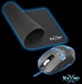 新竹【超人3C】FOXXRAY 流星獵狐 FXR-BMP-07 高速 電競滑鼠 滑鼠墊組合 抓握式操控 呼吸燈 高質感