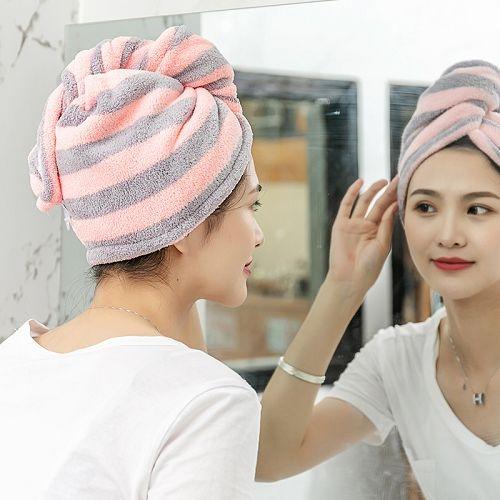 ~宜家~新款時尚三角珊瑚絨吸水乾髮帽(成人款) 乾髮帽 乾髮巾