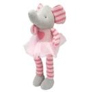美國 Elegant Baby 童趣針織娃娃玩偶 (小) -粉紅象