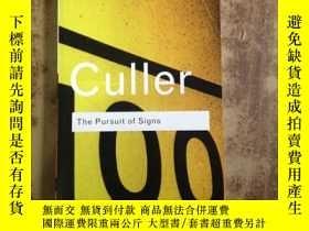 二手書博民逛書店The罕見Pursuit of Signs (Routledge