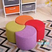 沙發凳 創意換鞋凳簡約小凳子家用客廳時尚坐墩布藝小板凳實木矮凳T 多色