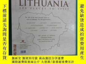 二手書博民逛書店英文書罕見LITHUANIA 100PLACES TO VISIT 硬精裝Y15969