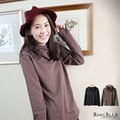 素面--文藝素雅垂領圓弧口袋設計素色連帽上衣(黑.咖S-2L)-X147眼圈熊中大尺碼