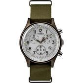 TIMEX 天美時 MK1 三眼計時 手錶(TXTW2R67900)  軍錶/銀色面/橄欖綠