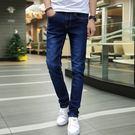 牛仔褲 夏季休閒牛仔褲男士彈力小腳褲修身韓版潮流鉛筆褲男裝青少年【快速出貨八折搶購】