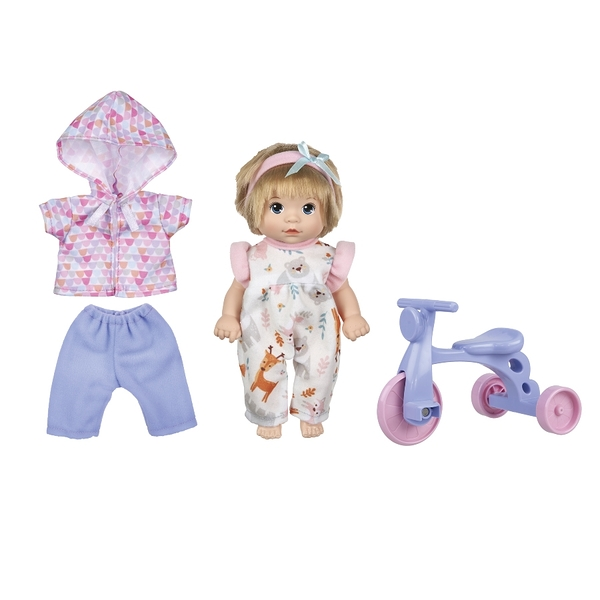 Baby Blush 親親寶貝 8吋娃娃玩樂腳踏車組 玩具反斗城