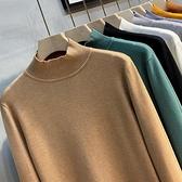 2021秋冬新款半高領毛衣男中領針織衫男士打底衫韓版潮流加厚毛線