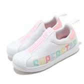 adidas 休閒鞋 Superstar 360 X C 白 粉紅 童鞋 中童鞋 運動鞋 【ACS】 FV7231