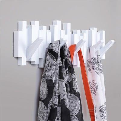 Umbra創意鋼琴掛??鉤牆壁裝飾掛衣鉤歐式衣帽架宜家臥室壁掛排鉤(白色)