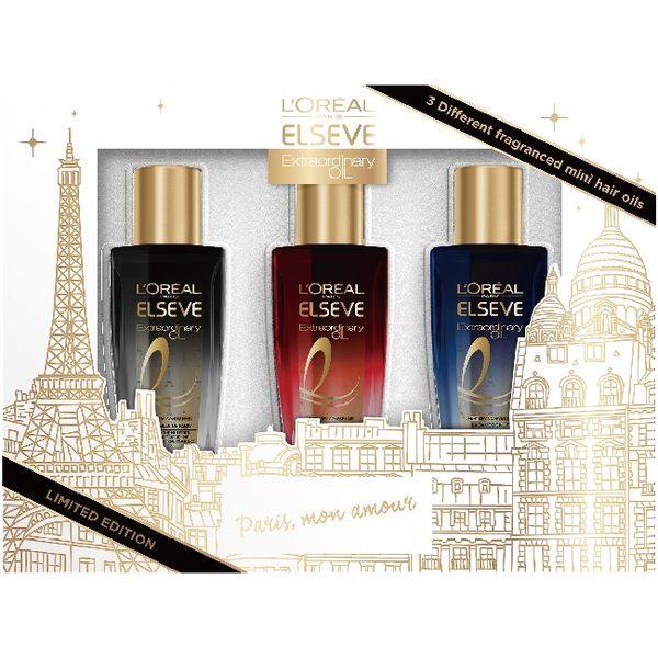 巴黎萊雅金緻護髮精油閃耀巴黎限定組30ml*3【寶雅】 巴黎萊雅 金緻 護髮