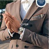 男士手錶 手錶男士新款防水運動精鋼帶夜光石英學生時尚潮流男錶非機械 伊芙莎