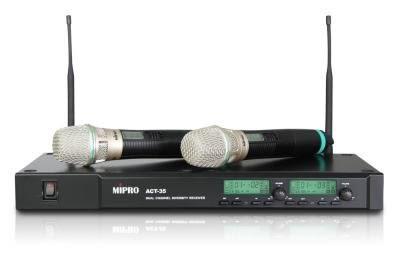 【金聲樂器廣場】MIPRO ACT-35 無線麥克風 雙頻道自動選訊無限麥頻 ACT 35