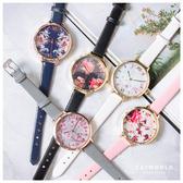 Catworld 浪漫花漾錶面細帶手錶【18002782】‧F