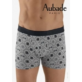 Aubade man-舒棉M-XL平口褲(高帽-灰)