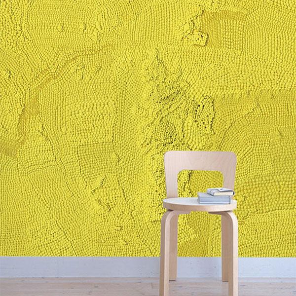 【日本製】[WALLTZ] Yutaro Sato 【188cm×284.7cm/套(一套四張壁板)】黃色摩登 Excitement pretending to be calm.