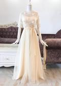 2020新款綁帶款花瓣長款禮服伴娘服晚禮服姐妹團裙