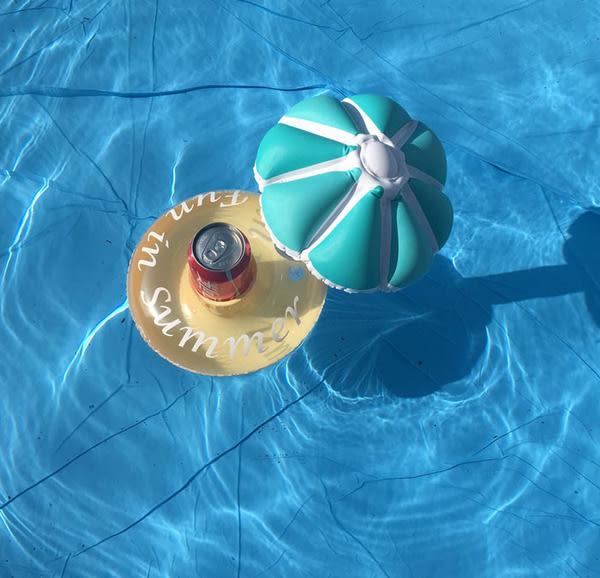 Qmishop 度假必備 甜甜圈充氣杯座 水上杯墊 21X24cm【QJ680】