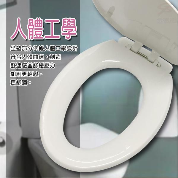 金德恩 台灣製造 TOTO/HCG專用SGS檢測抑菌型48cm加長馬桶蓋/白色/米色 兩色可選