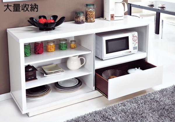 【森可家居】依莉莎白5尺餐櫃(木心板) 7JX222-3  收納廚房櫃 中島 碗盤碟櫃 白色 簡約